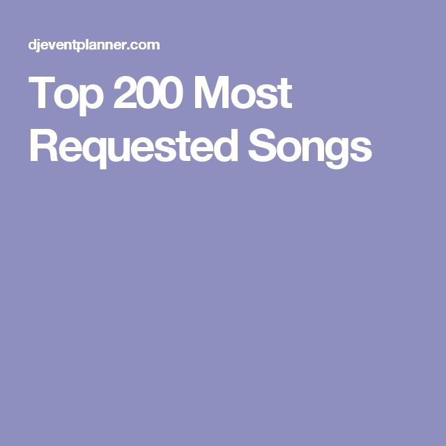 Top 200 most requested songs