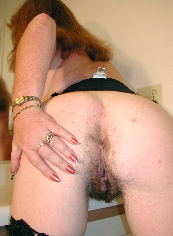Mature hairy pussy ass